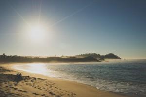 sun beach shot